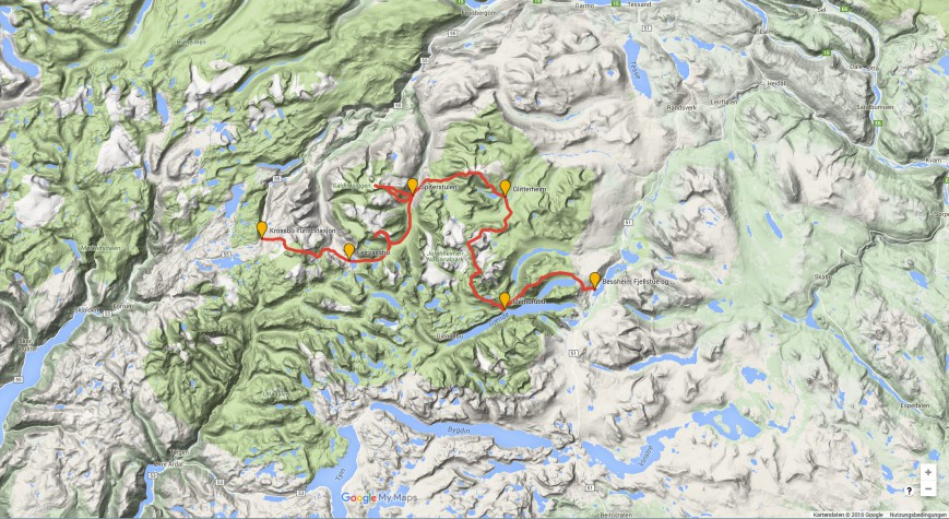 Haute Route Ski Tour Map