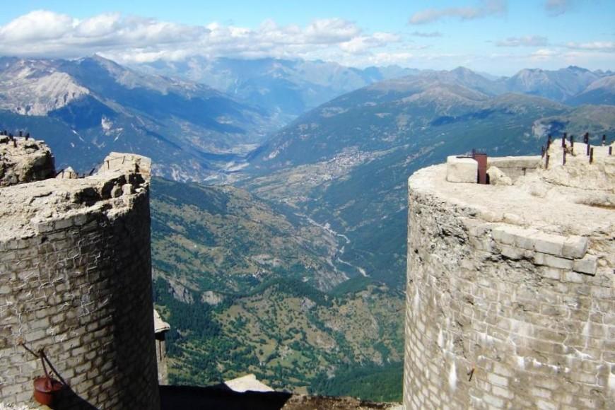 Mont Chaberton Blick nach Osten (Olympia Turin 2006)