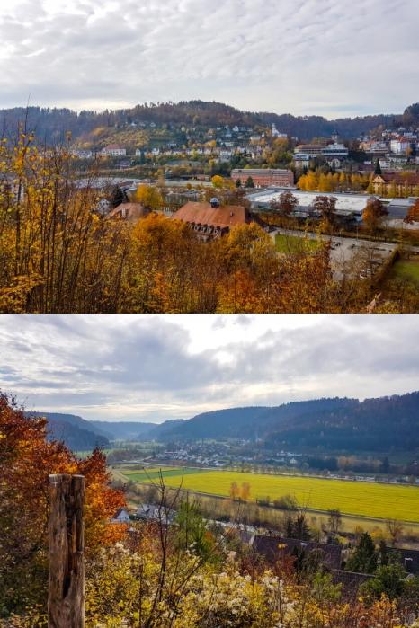 Hoch ueber dem Ostufer des Neckar geht es von Oberndorf nach Sueden