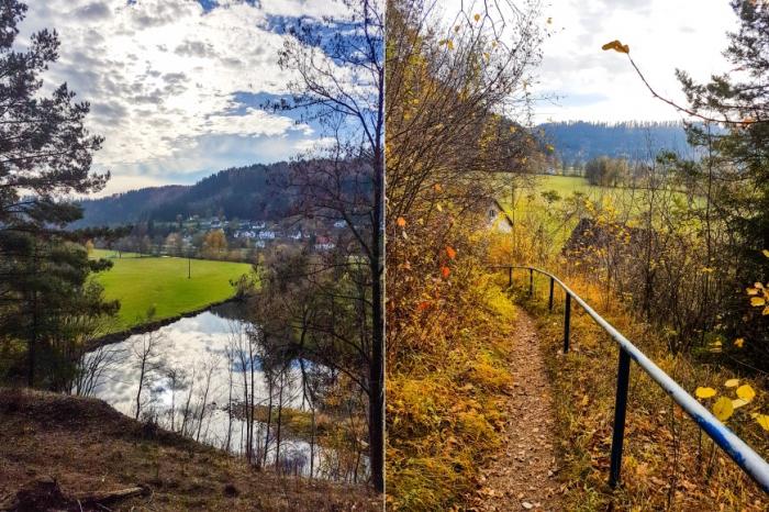 Abstieg zum Neckar bei Epfendorf