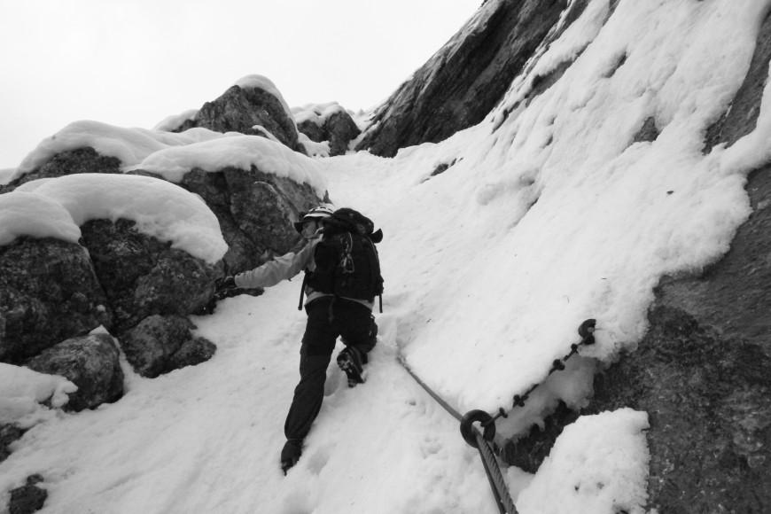 Klettersteig Höllental : De durch das höllental auf die zugspitze u der kräftezehrende