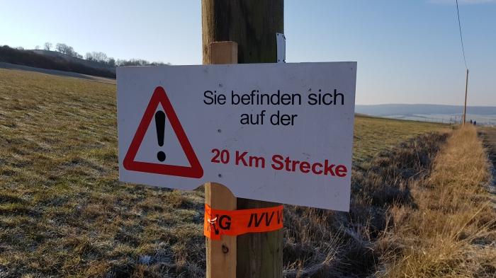 20 km Strecke